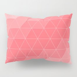 Coral Red Triangles Pillow Sham