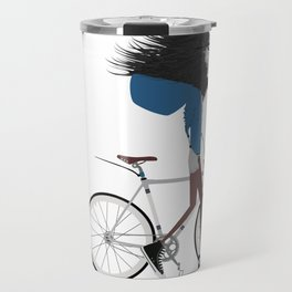 Hipster Lion and his Bicycle Travel Mug