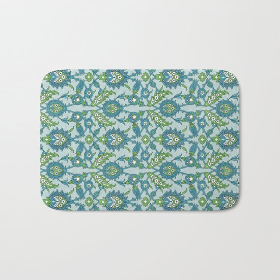 Floral ornament Bath Mat