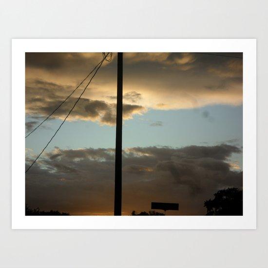 Through The Clouds Art Print