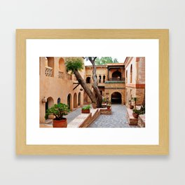 agadir medina courtyard Framed Art Print