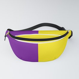 Team Colors 6....Yellow,purple Fanny Pack