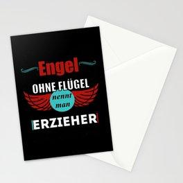 Engel ohne Flügel nennt man Erzieher Stationery Cards