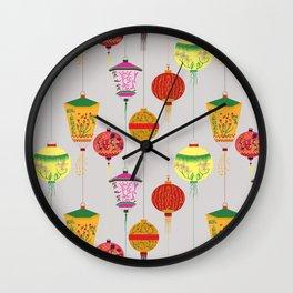 Chinese lampions  Wall Clock