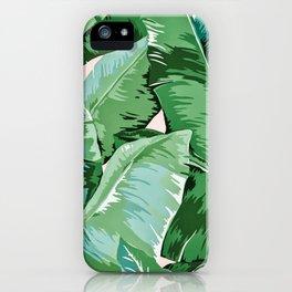 Banana leaf grandeur II iPhone Case