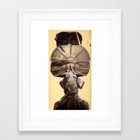 lama Framed Art Prints featuring Lama by Ira Carter