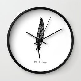 Feather and Quote no.1 Wall Clock