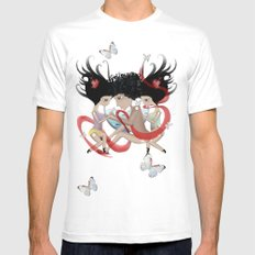 Doll Sunkissed Bipolar Love  MEDIUM White Mens Fitted Tee