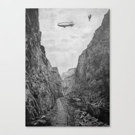 Canyon railroad Canvas Print