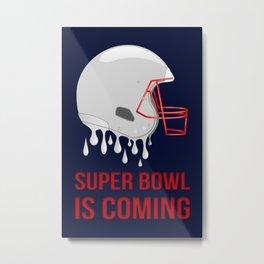 The Super Bowl Countdown Metal Print