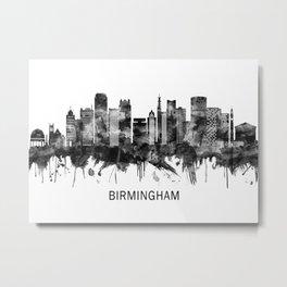 Birmingham England Skyline BW Metal Print