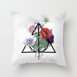 Deathly Hallows Throw Pillow