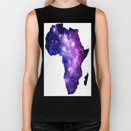 Africa : Purple Blue Galaxy Biker Tank