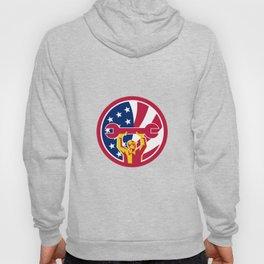 American Mechanic USA Jack Flag Icon Hoody