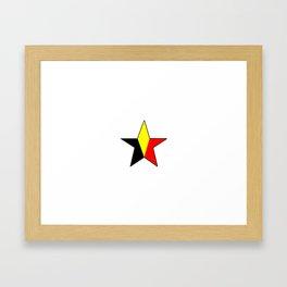 Flag of belgium 6 belgian,belge,belgique,bruxelles,Tintin,Simenon,Charleroi,Anvers,Maeterlinck Framed Art Print