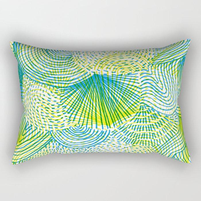 Space lime Rectangular Pillow