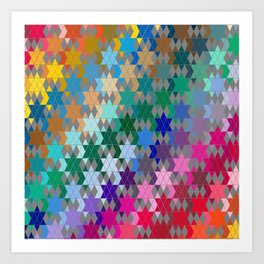 Star of David Pattern  Art Print