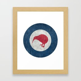 "New Zealand ""Kiwi"" Roundel Framed Art Print"