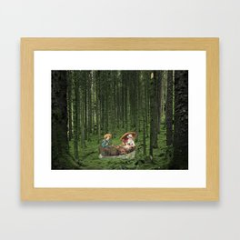 THE STROLL Framed Art Print