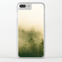 Redwood Rising - Nature Photography Clear iPhone Case