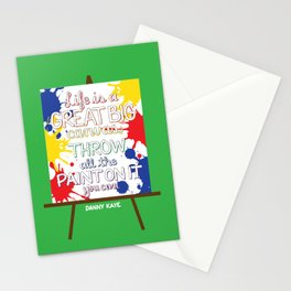 Life is a great big canvas Stationery Cards