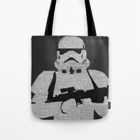 stormtrooper Tote Bags featuring Stormtrooper by  Steve Wade ( Swade)
