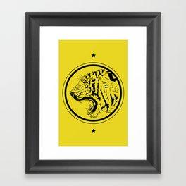 Tiger in a circle Framed Art Print