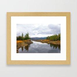 Fall Lake Framed Art Print