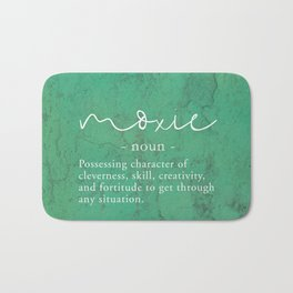 Moxie Definition - White on Green Texture Bath Mat