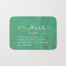 Moxie Definition - White on Green Texture Bath Mat