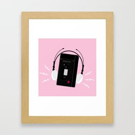 I hear synthwave music Framed Art Print