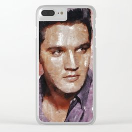 Elvis Presley Painting Clear iPhone Case