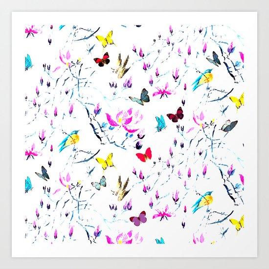 Butterflies Forest Art Print