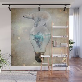 Polar Bear Ice Cap Wall Mural