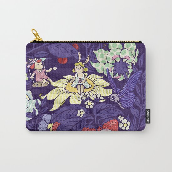 Garden party - blueberry tea version Carry-All Pouch