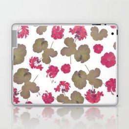 seamless   pattern of geranium flowers . Endless texture Laptop & iPad Skin