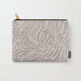 Abstract Print - Things Are Changing - in Pink and Brown Carry-All Pouch