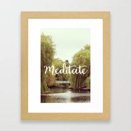 Meditate in the park Framed Art Print