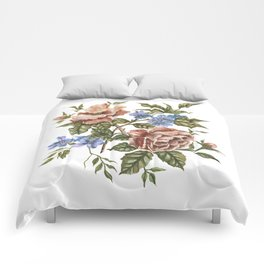 Wildflower Bouquet Watercolor Painting Comforters