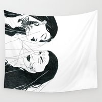 sisters Wall Tapestries featuring Sisters by Miranda Scott