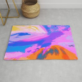 Abstract Untitled Creation by Robert S. Lee Rug