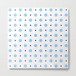 new polka dot 89 blue Metal Print