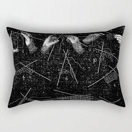 Vintage knitting Rectangular Pillow