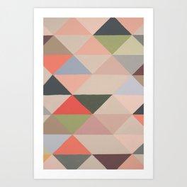Triangle Painting Art Print
