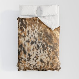 Rustic Country Western Texas Longhorn Cowhide Rodeo Animal Print Comforters