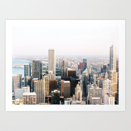 Chicago Illinois Aerial View Art Print