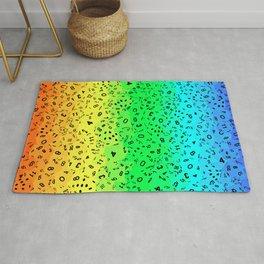 Rainbow Dice Rug