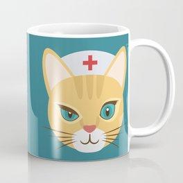 Nurse Cat ~ Teal Coffee Mug