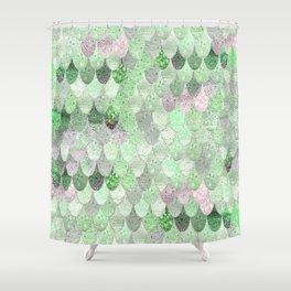 SUMMER MERMAID - GREEN & PINK Shower Curtain