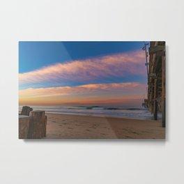 Dawn Clouds at Newport Pier Metal Print